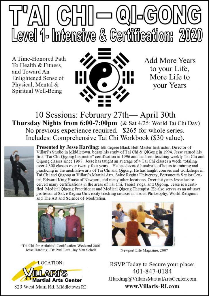10 Session Tai Chi QiGong Intensive Cert Jesse Harding Villaris-RI.com 2020 P2