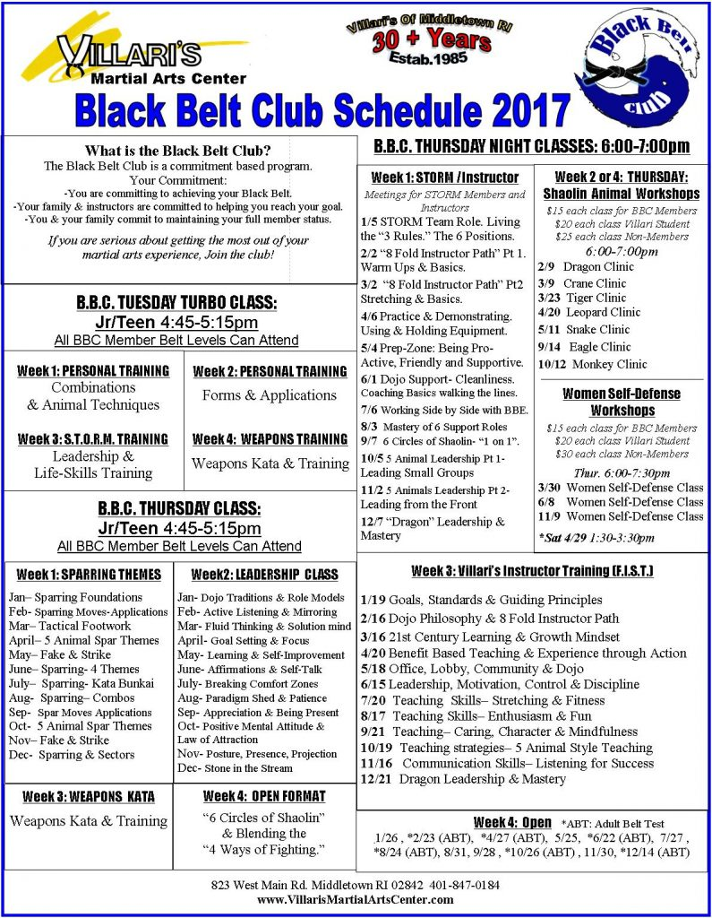 black-belt-club-schedule-2017-villaris-martial-arts-middletown-ri