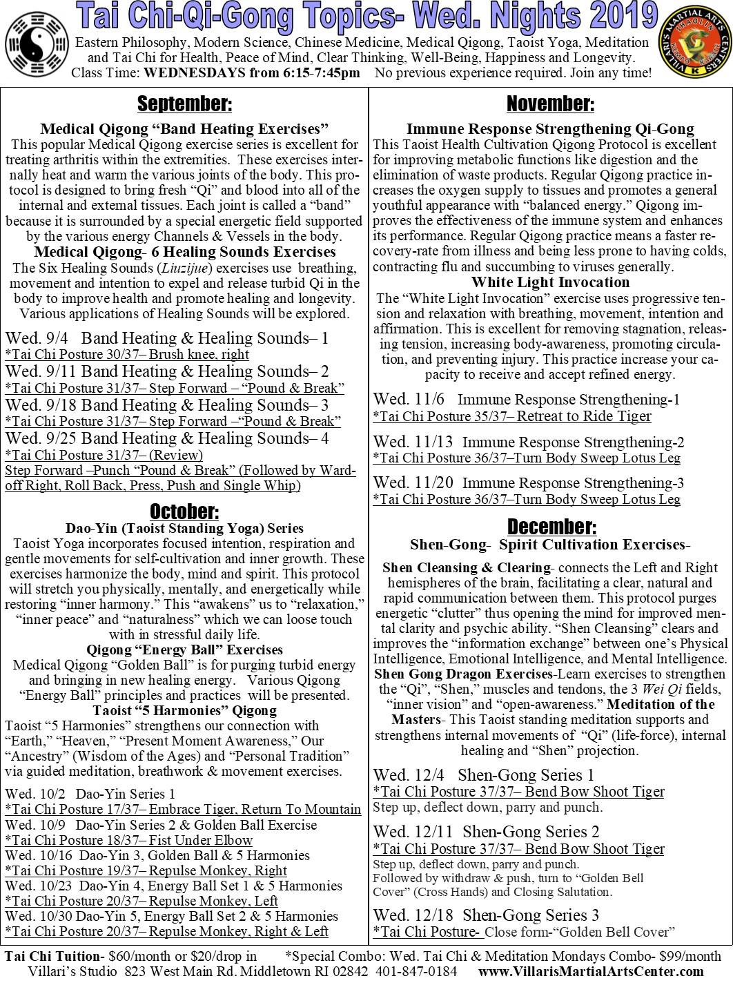 VMAC Tai Chi and Qi-Gong programs