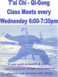 Tai Chi Class EVERY WED poster Villaris
