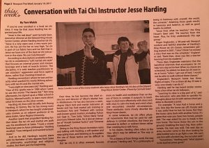 Jesse TAI CHI Newport Today News Story Jan 19 2017