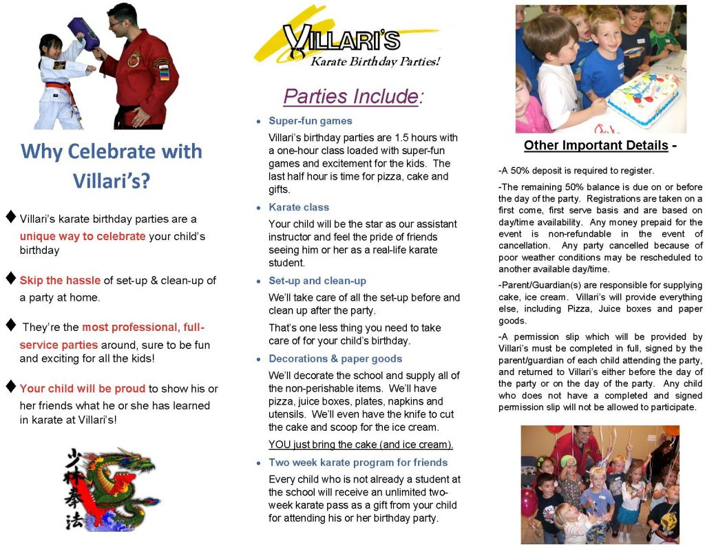 Karate Birthday Party Villari's Martial Arts Middletown RI p2