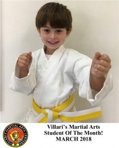 Student of Month March 2018 Villaris-RI.com Villari's Studio Middletown RI