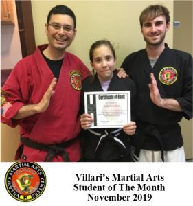 Student of month Villaris-RI.com NOV 2019