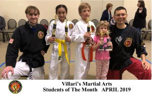 Students of Month Villaris Martial Arts April 2019 www.villaris-ri.com