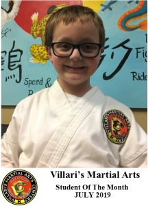 student of month July 2019 villaris-ri.com