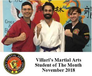 student of month villaris-ri.com nov 2018 middletown RI