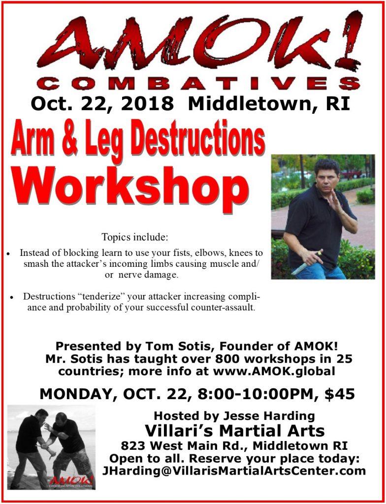 AMOK! Villari's Martial Arts Middletown RI Jesse Harding Tom Sotis Oct. 22 2018