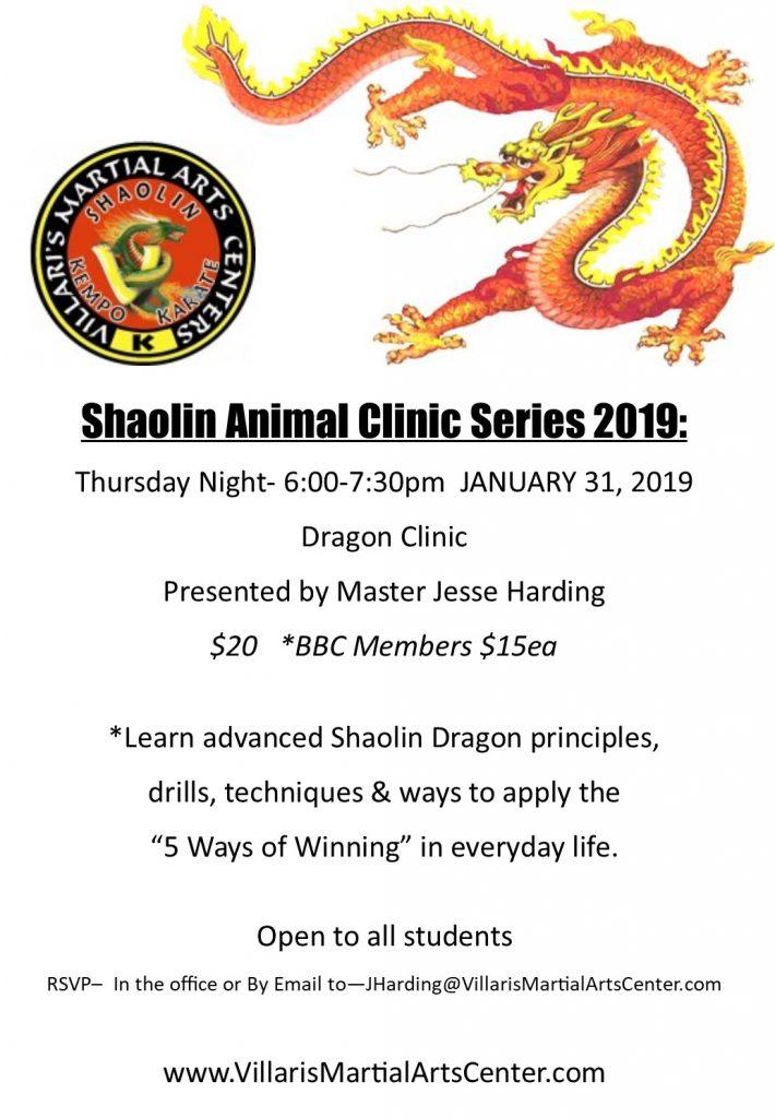 DRAGON CLINIC with Master Jesse Villari's Martial Arts Thur Jan 31 2019 villaris-ri.com