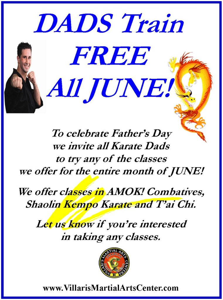 Dad train free in JUNE