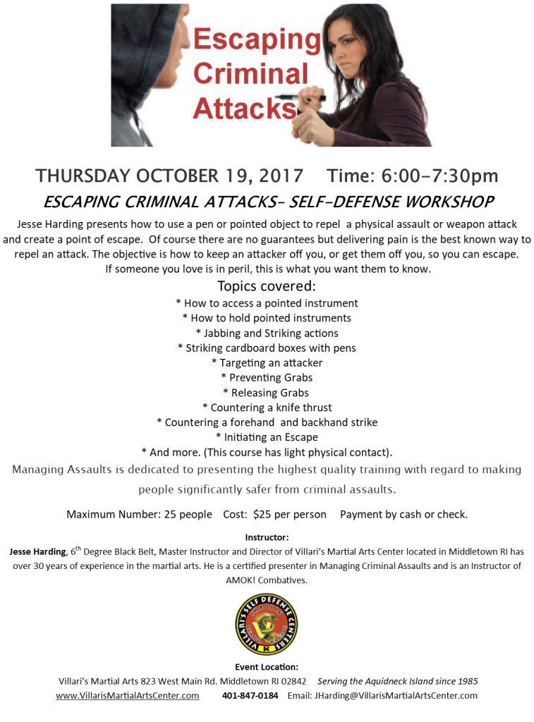 Escape Criminal Attack OCT 19 2017