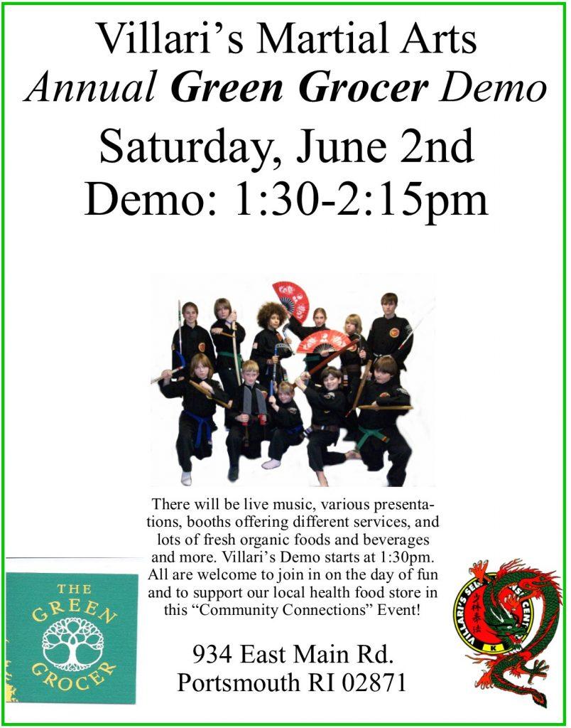 Green Grocer Demo June 2 2018 Villari's Martial Arts Middletown RI