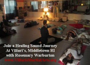 Healing Sound Journey Villari's Middletown RI Rosemary Warburton