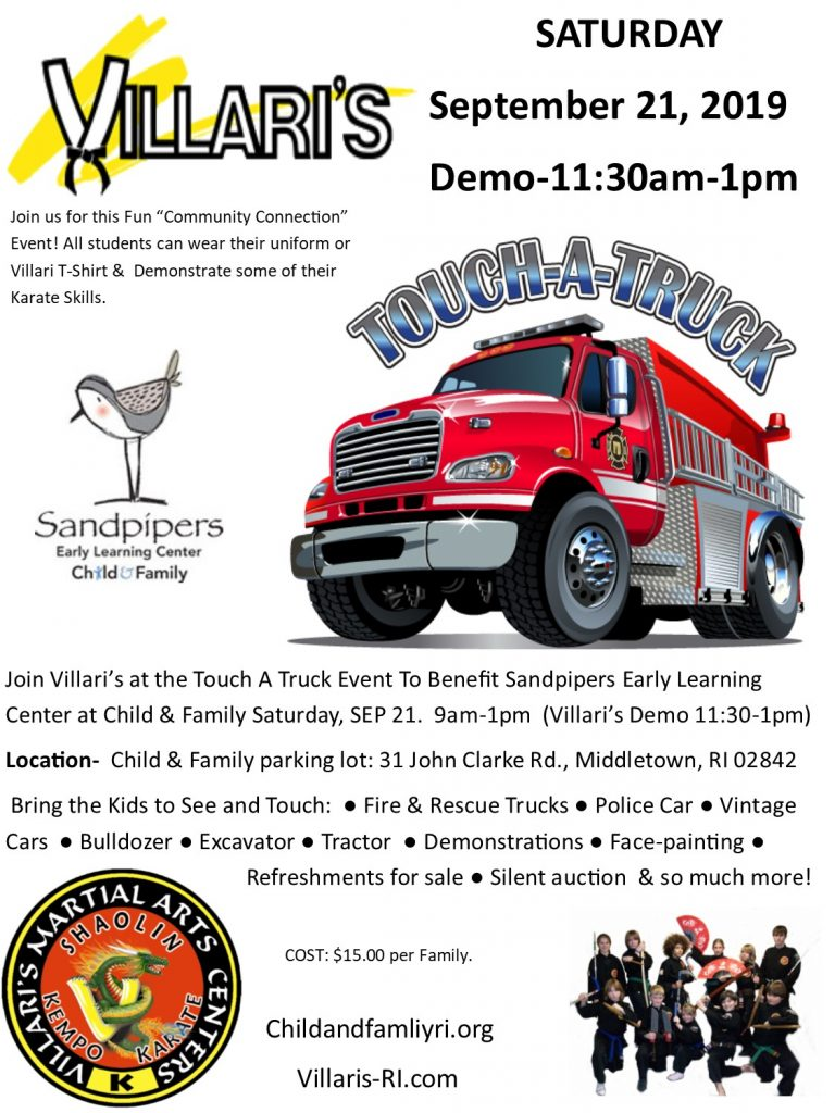 Touch a Truck Villari Demo Sat Sep 21 2019 1130-1pm villaris-ri.com