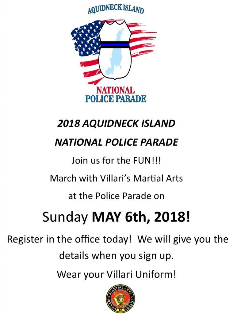 Aquidneck Island National Police Parade Villaris Martial Arts Sun May 6 2018