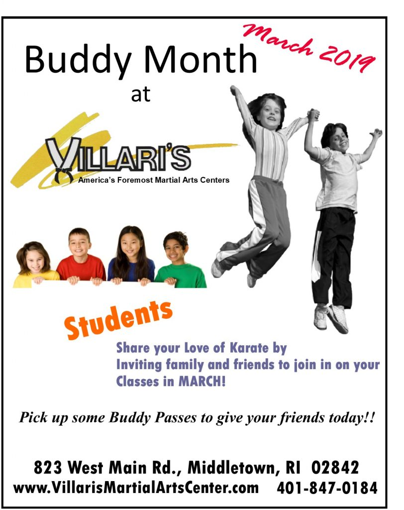 Buddy Month March 2019 villaris-ri.com